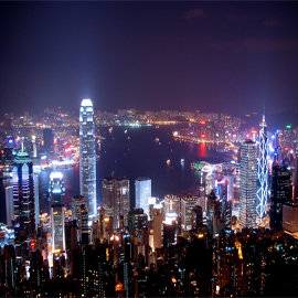 <b>Hong kong city night</b> #6992445